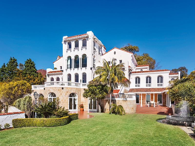 The Spanish Mission-style Bellevue Hill property was built in the 1930s by architect F Glynn Gilling. Photograph: Craig Bryant