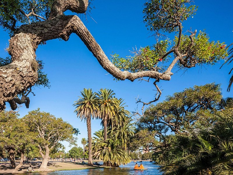 The leafy Palermo neighborhood features Parque Tres de Febrero, with its picturesque lakes and gardens. Photograph: Alamy
