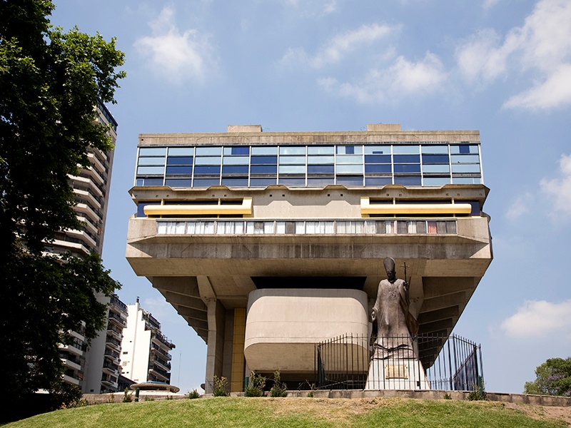 The city's architecture is as varied as its cultural offerings. Among the standout examples are the brutalist Biblioteca Nacional by architects Clorindo Testa, Francisco Bullrich, and Alicia Cazzaniga de Bullrich. Photograph: Getty Images