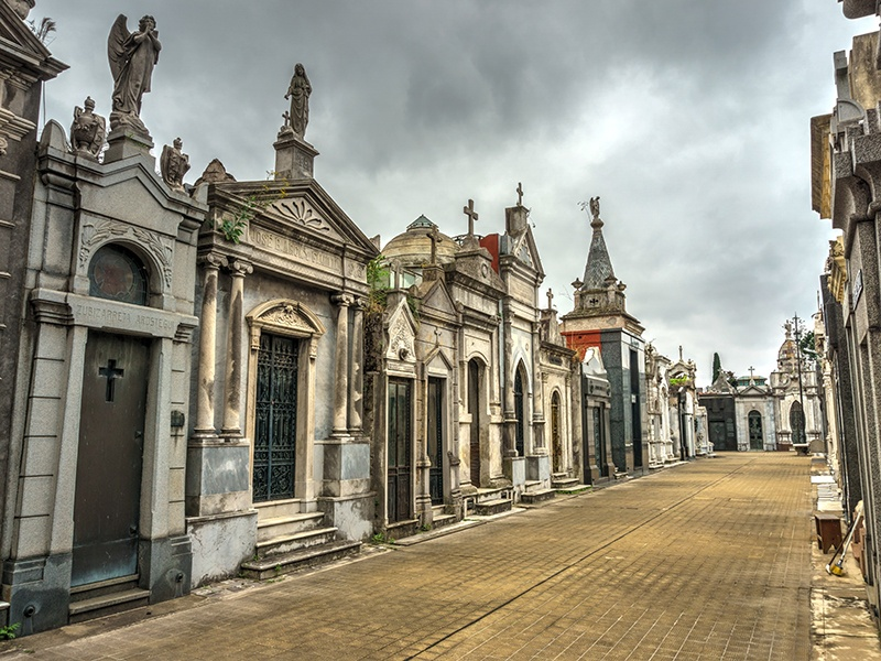 A stroll through Cementerio de la Recoleta is a journey through the country's history, revealing the final resting places of past presidents, military heroes, politicians, and Argentina's rich and famous. Photograph: Shutterstock