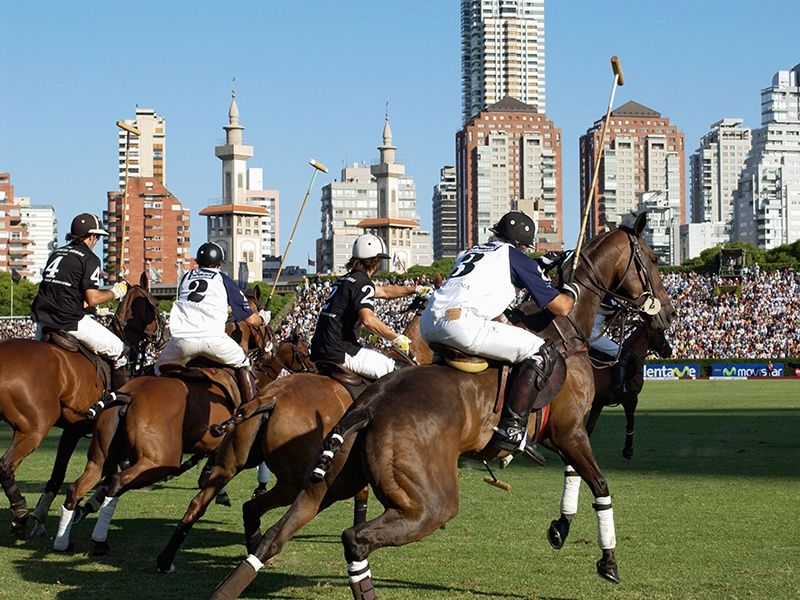 Polo is the city's most popular sport, and the Campo Argentino de Polo, or <i>La cathedral</i>, according to <i>porteños</i>, is the place to see it. Photograph: Alamy