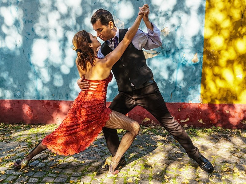 Tango is at the heart of Argentina's culture, gaining worldwide appeal in the 1930s. Today, visitors can attend dinner shows, or take part at a tango school or academy. Photograph: Getty Images