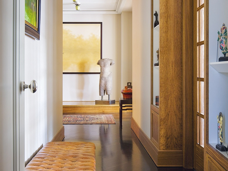 A hallway is ideal for displaying key artworks, as seen in this concept by Campion Platt. Photograph: Scott Frances