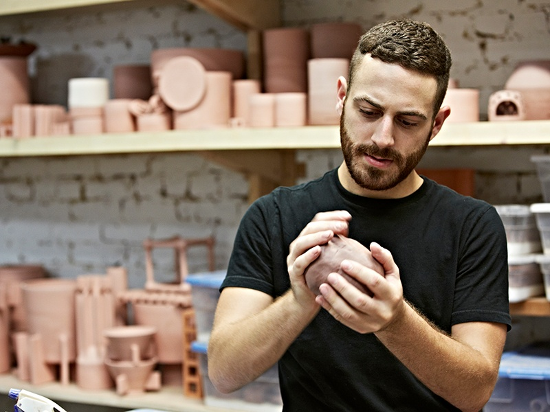 """I'm always experimenting to achieve new forms and functions,"" says ceramicist Ben Medansky."