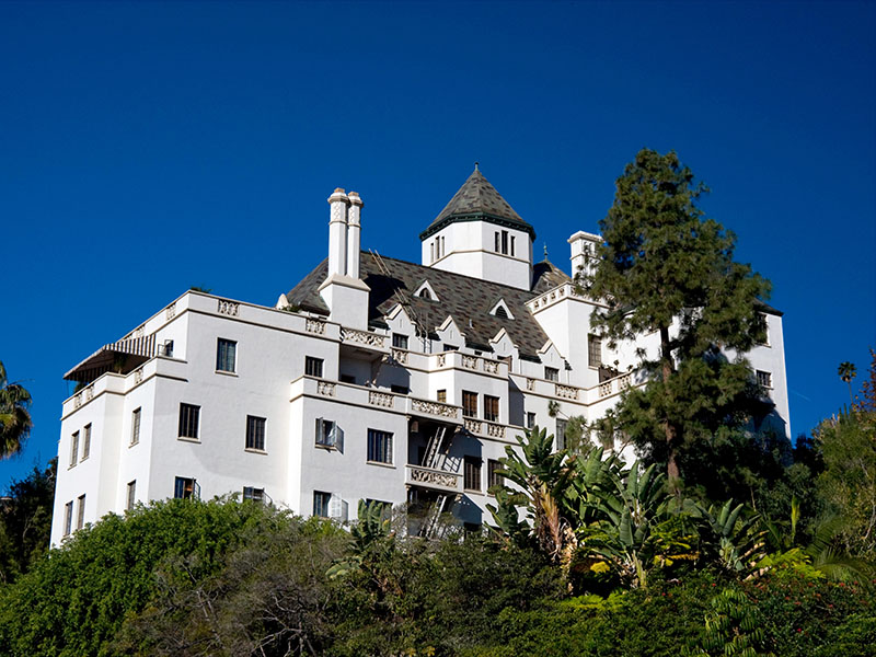 Owned by hotelier André Balazs and a favorite among celebrities worldwide, Chateau Marmont is a luxurious hideaway on Sunset Boulevard. Photograph: Alamy