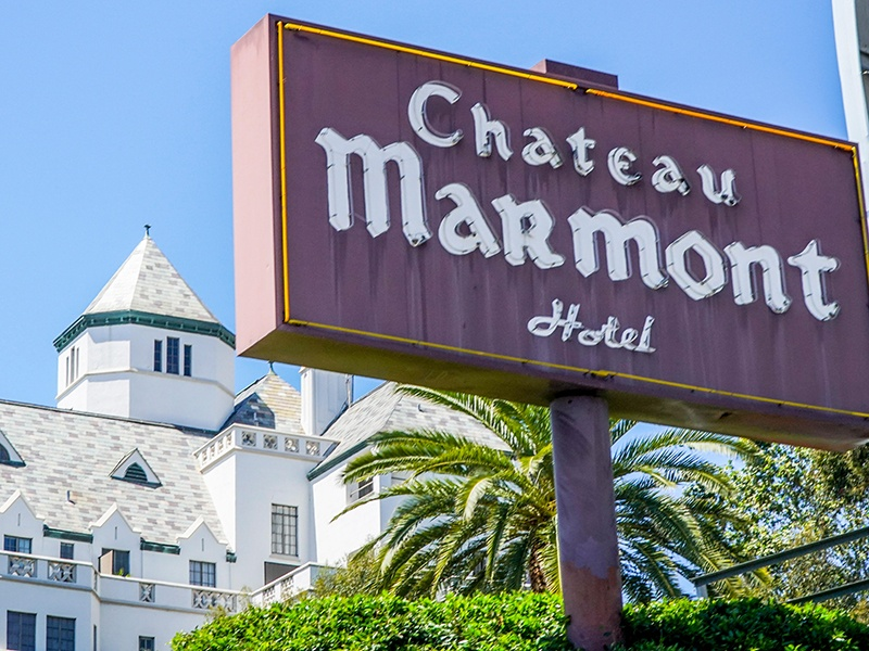 Chateau Marmont prides itself on maintaining the privacy of its guests, leading Hollywood celebrities to seek out the hotel as a place of refuge. Photograph: Alamy
