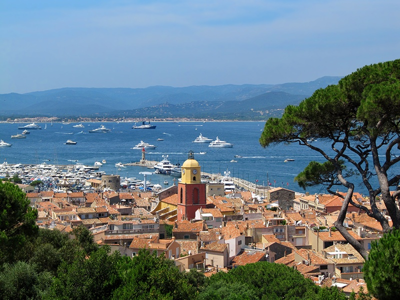 A visit to the Citadelle de Saint-Tropez rewards with wonderful views over the town and its illustrious marina. Photograph: Shutterstock
