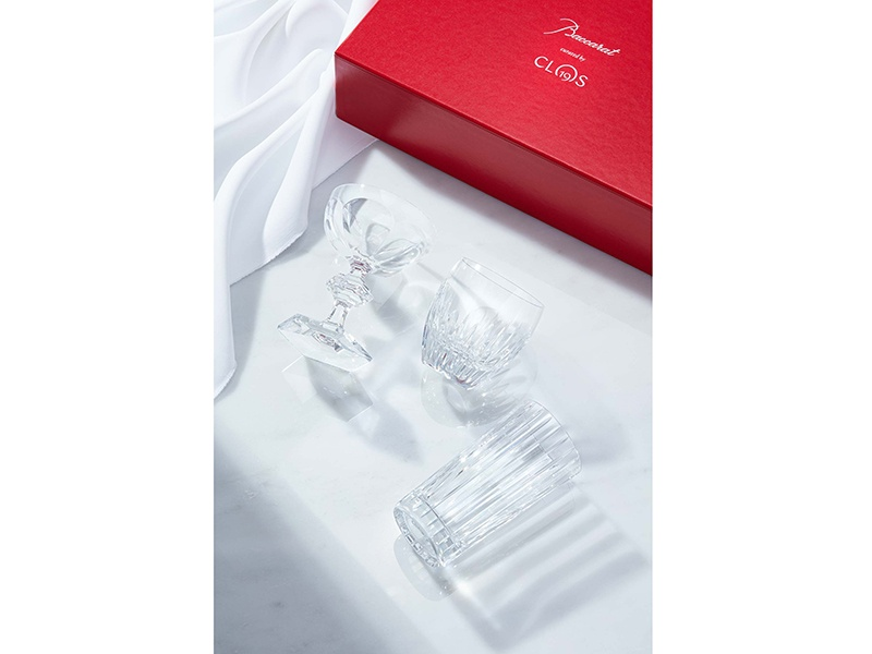 Clos19 has collaborated with glassware experts Baccarat to create exquisite vessels for any occasion.