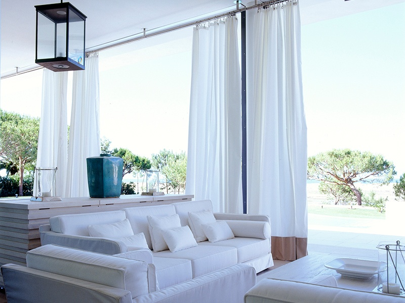 """At a newly built villa in the Algarve, Collett-Zarzycki ensured prominence was given to indoor–outdoor living through the creation of outdoor """"rooms."""" Photograph: Mark Luscombe-Whyte"""