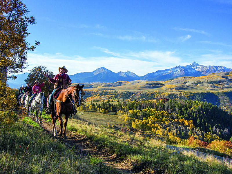Rugged all-season trail rides can be taken through the hills surrounding Telluride. Photograph: Alamy