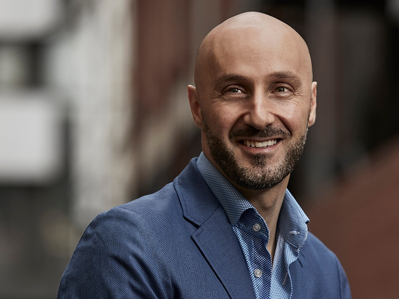 Fady Hachem intended to be a fine artist but found architecture and interior design more fulfilling. Photograph: Nicole Reed. Banner image: Bond bar in Melbourne. Photograph: Shania Shegedyn