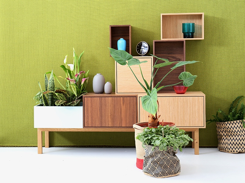 Comprising 34 module sizes, 23 colors, and four real-wood veneers, Cubit's shelving and sideboard systems offer endless opportunity for creative storage and display solutions.