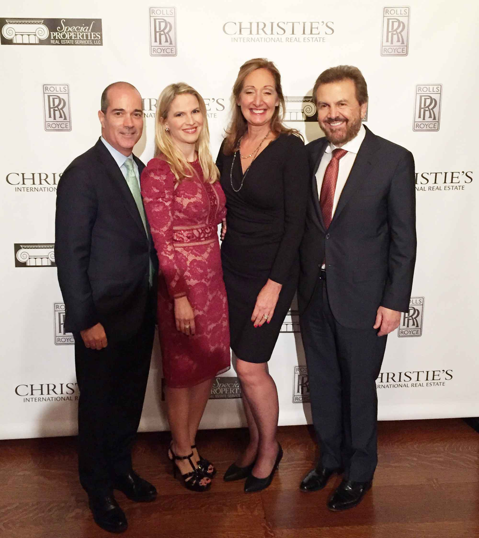 Dan Conn, Chief Executive Officer of Christie's International Real Estate; Sonja Cullaro, Executive Vice President of Special Properties Real Estate Services; Kathleen Coumou, Executive Director of Christie's International Real Estate; and Ilija Pavlovic, President and CEO of Special Properties Real Estate Services.
