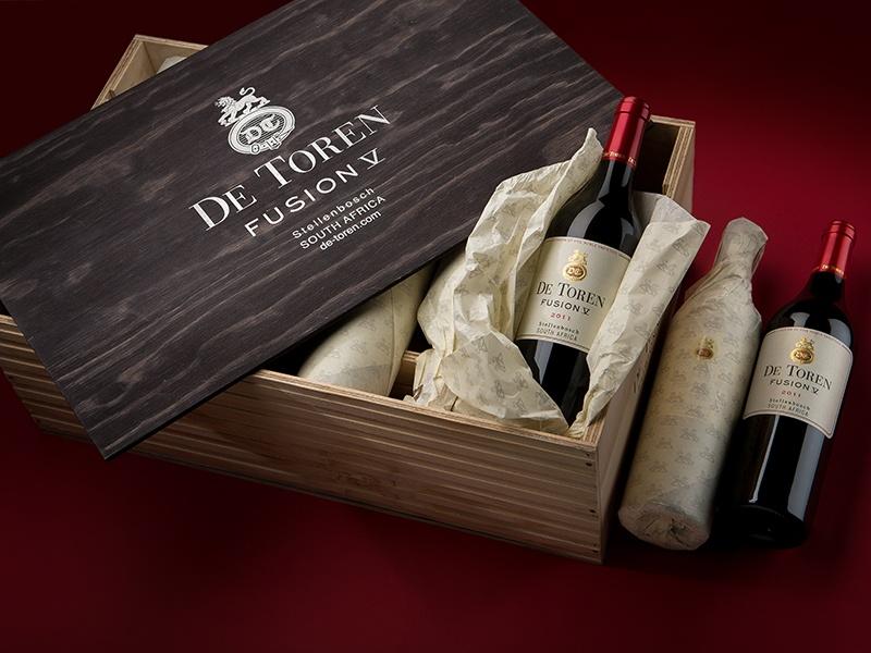 De Toren's Fusion V wine contains all five noble Bordeaux varietals, with 50-60 percent Cabernet Sauvignon at its heart.