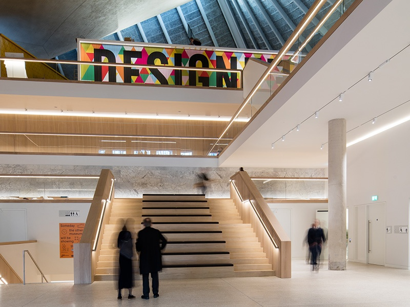 """The new Design Museum in Kensington, London, created by """"godfather of minimalism"""" John Pawson. Photograph: Luke Hayes"""