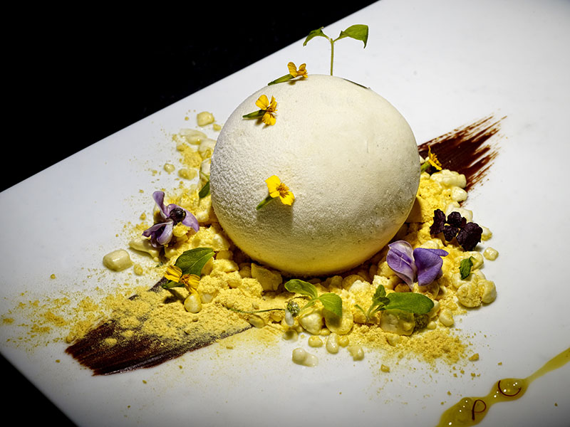 """Gaggan, in the Thai capital, has twice been named Asia's Best Restaurant and the stunning Mango Snowball is the finale of its 19-course """"Experience"""" menu. Photograph: Gaggan"""