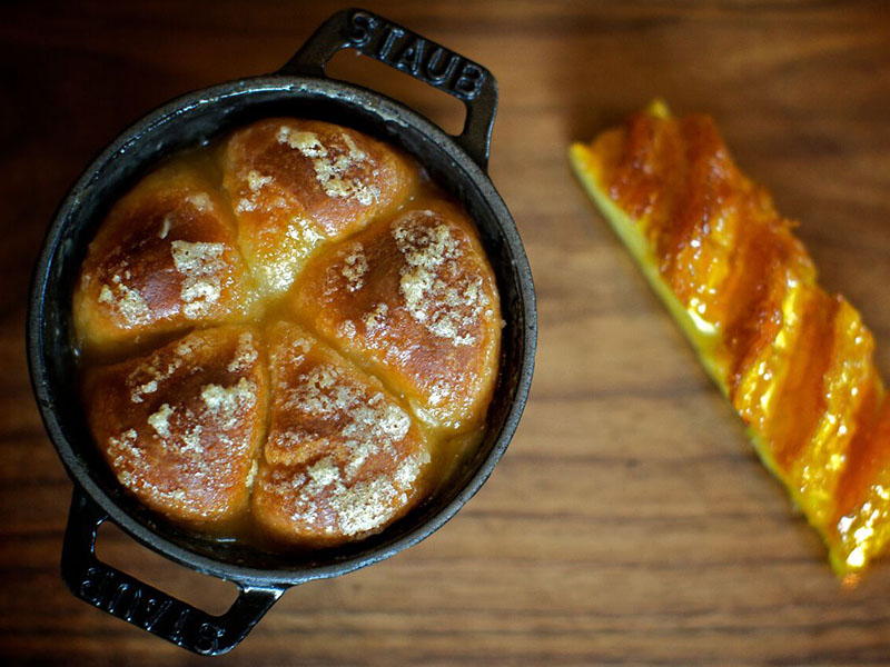 Heston Blumenthal's Tipsy Cake is an example of his scientific approach, which has earned him a fellowship of the Royal Society of Chemistry. Photo: Ashley Palmer-Watts