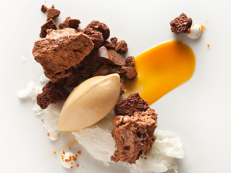 """The word chocolate may originate from the ancient Mexican for """"bitter water,"""" but Eleven Madison Park's creations are beyond any Aztec's dream. Photograph: Francesco Tonelli"""