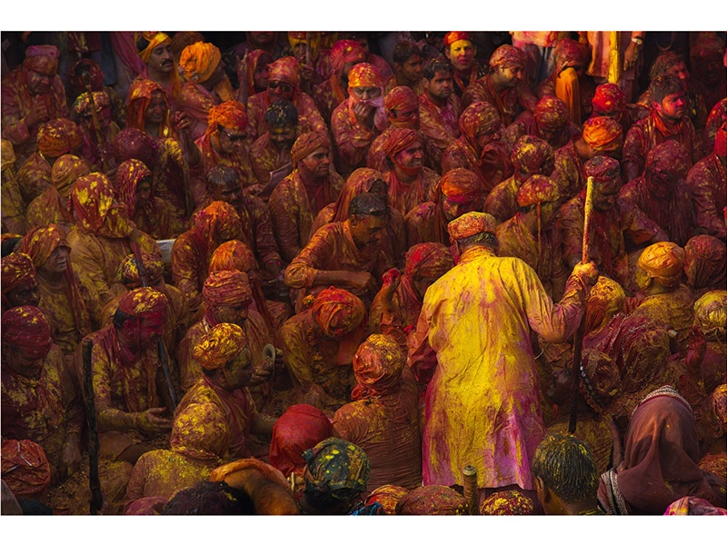With a particular focus on Asian countries, Drew Hopper's images—including this photograph of the Hindu spring festival of Holi in Uttar Pradesh, India—resonate with cultural significance. Photograph: ©Drew Hopper Photography