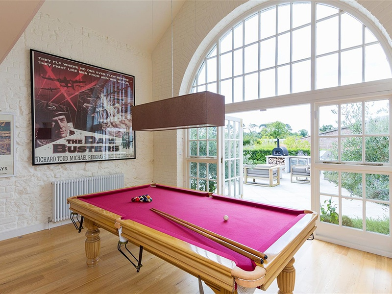Organize a game of pool, tennis, basketball, soccer, or rugby—or enjoy a trip down the zip line on the property. Photograph: Sherry FitzGerald Group