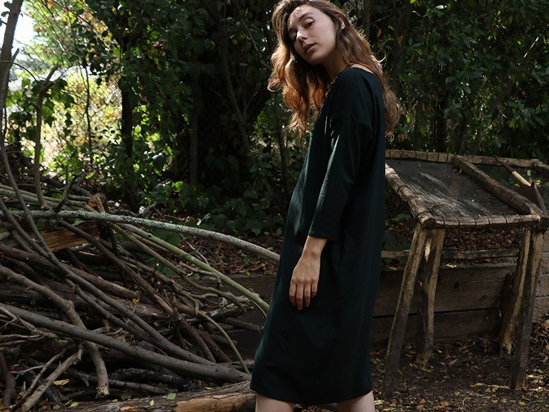 Erica Tanov's silk Ines dress is made for layering, with a relaxed silhouette. Photograph: Gabrielle Stiles