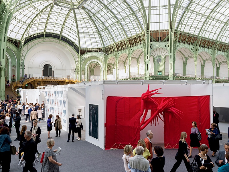 The Grand Palais in Paris makes for a stunning setting for the FIAC contemporary art fair, with around 190 galleries spread among the General Sector, Design Sector, and Lafayette Sector—the latter dedicated to young and emerging galleries.