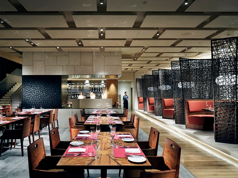 Brasserie, one of two restaurants at the hotel, brings together modern cooking techniques and local ingredients.