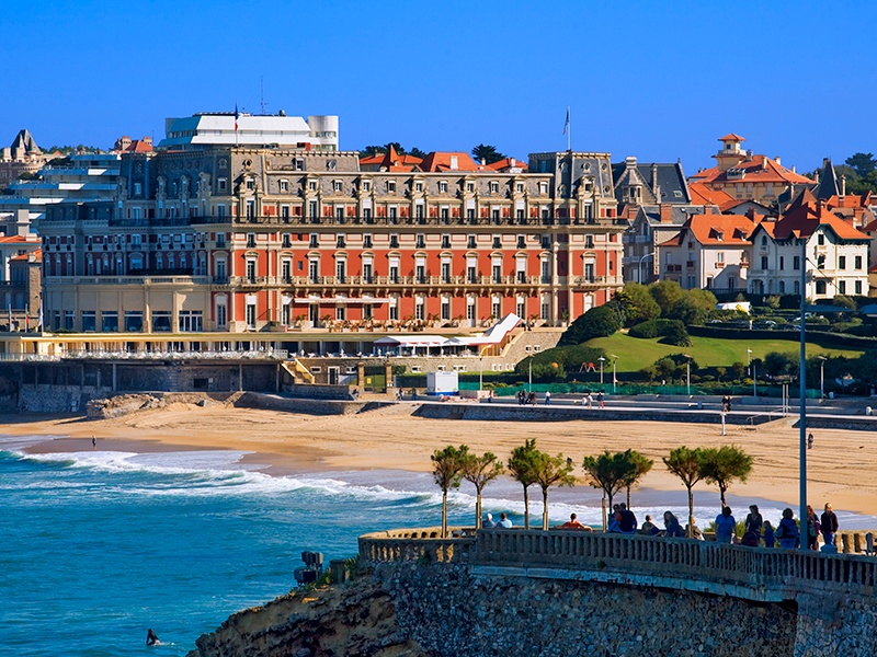 "The resort town of Biarritz draws surfers year after year, as well as elegant sun-seekers. ""The glamorous 1920s villas around Biarritz are renowned,"" says Nicolas Descamps, Director of Côte Ouest, Christie's International Real Estate's exclusive regional affiliate. Photograph: Getty Images"