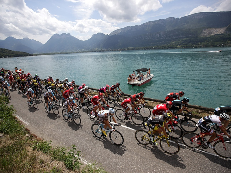 In 2016, cyclists traveled through Albertville to Saint Gervais Mont Blanc in Savoie during stage 19 of the Tour de France. This year, the 2017 route also visits Savoie and Haute-Savoie, as well as the Dordogne and the foothills of the Pyrénées. Photograph and banner image: Getty Images