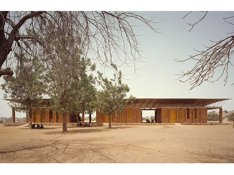 Gando Primary School in Gando, Burkina Faso, 2001. The school was Kéré's first completed project. Photograph: ©Simeon Duchoud