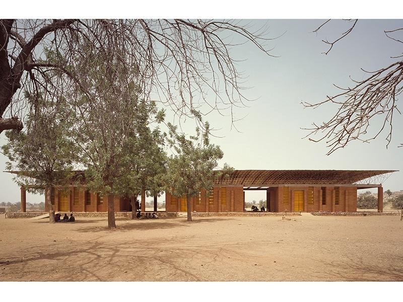 Gando Primary School in Gando, Burkina Faso, 2001. The school was Kéré's first completed project. Photograph: ©Simeon Duchoud