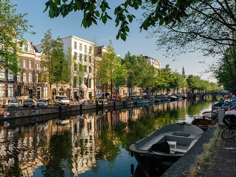 Canal-side gabled houses and cobbled streets are two of Amsterdam's defining characteristics. Keizersgracht—or the Emperor's Canal—is the widest of the three major canals in the city center.