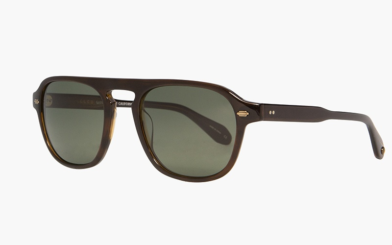 Garrett Leight's retro-styled Grayson sunglasses pay tribute to the vibrant and eclectic Venice Beach area of Los Angeles.