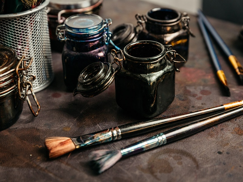 A patina service is on offer in Gaziano & Girling's Savile Row store—any pair of benchmade, made-to-order, or bespoke shoes can be given a hand-painted finish. Photograph: Greg Funnell