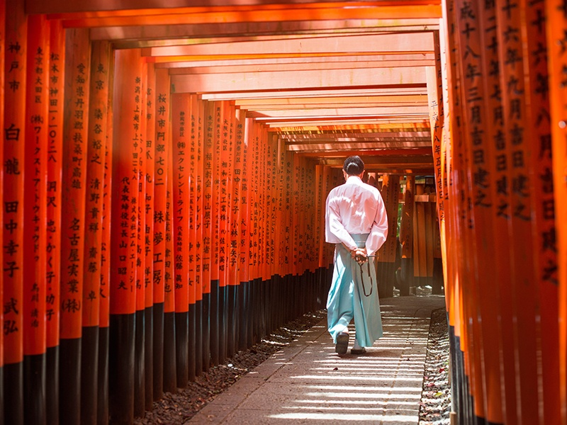 The Gion district dates back to the middle ages, and while it is packed with bars, restaurants, and teahouses, it has retained the beauty of its past. It was the setting for much of Arthur Golden's novel <i>Memoirs Of A Geisha</i>. Photograph: Getty Images