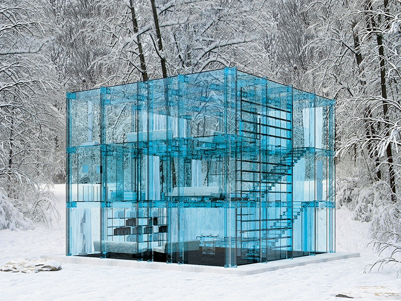 Completed in 2010 by Santambrogiomilano (specialists in all-glass design), the Glass House concept home in Italy was, as its name implies, created entirely from the crystalline material.