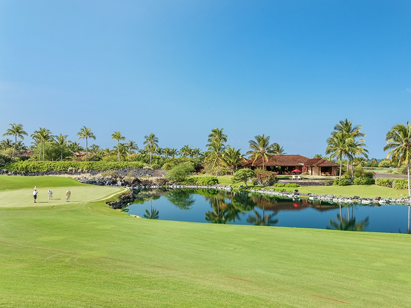 The stunning Ka'ulu Estate overlooks Hawaii's Hualalai Resort Golf Club, home to the Mitsubishi Electric Championship. Photograph: Hawaii Life Real Estate Brokers