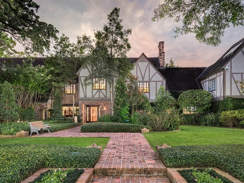 In addition to a small private golf course, this Houston property has a nine-car garage, plus a space for a golf cart. Photograph: Nan and Company Properties