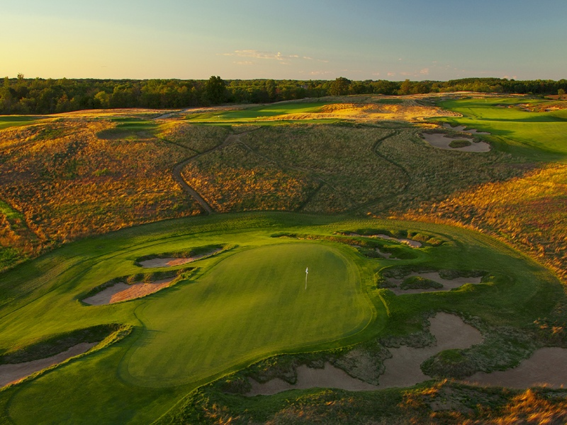 Ranked eighth in Golf Digest's list of America's Greatest Public Courses, Erin Hills is only the sixth public access course to host the U.S. Open Championship. Photograph: Paul Hundley
