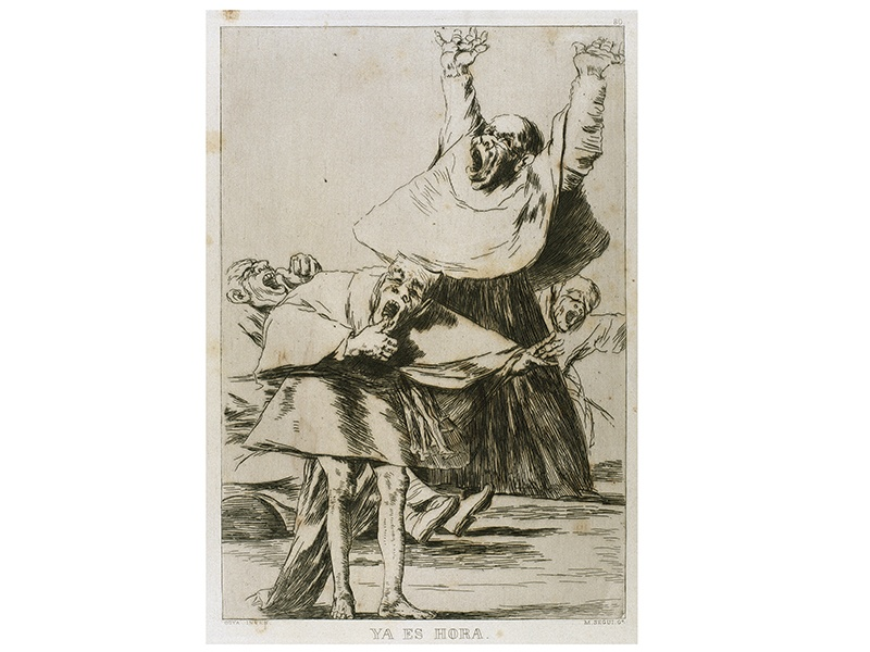 <i>Ya es Hora (It Is Time)</i> is an etching and aquatint engraved by Francisco de Goya in 1799. Photograph: Alamy