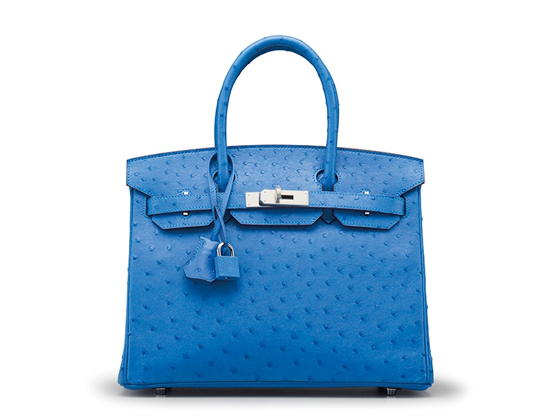 <strong>MYKONOS OSTRICH BIRKIN 30 BAG</strong><br>HERMÈS, 2014<br>Auction estimate: $25,000-$30,000<br>December Holiday Auction 2016