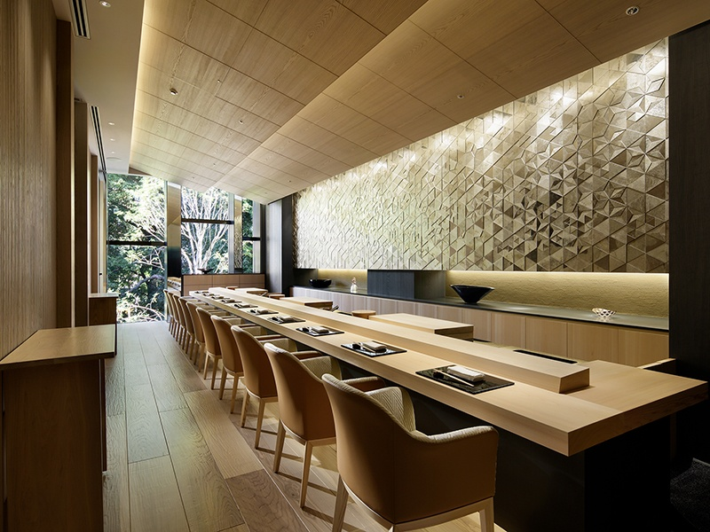 The 10-seat Sushi Wakon is overseen by chef Rei Masuda, who sources fresh ingredients from Tokyo's iconic Tsukiji Fish Market. Photograph: Japan Capital Realty, Inc.