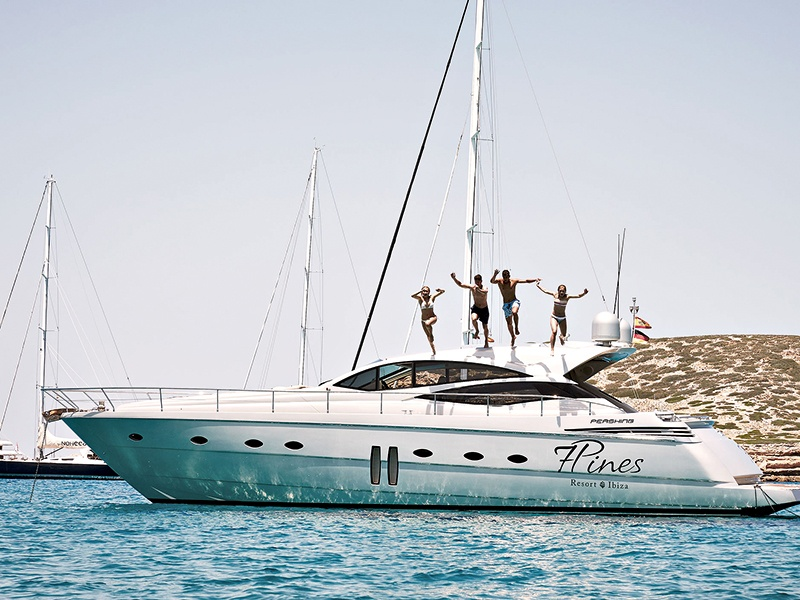 Seven Pines Resort Ibiza can create itineraries for its guests, including diving, yacht excursions, and club and restaurant bookings.