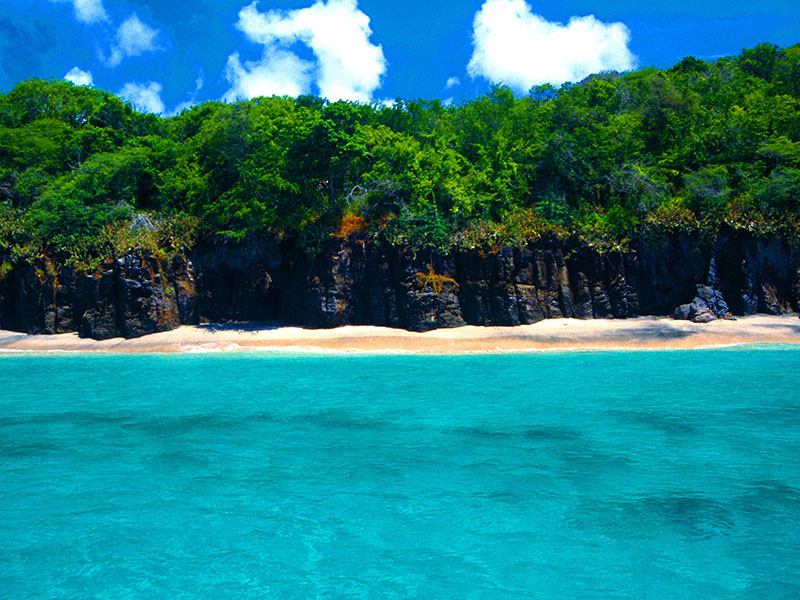 Isle De Ronde has never been developed, and offers crystal-clear waters, abundant wildlife, and a swim-through cave. Photograph: Alamy