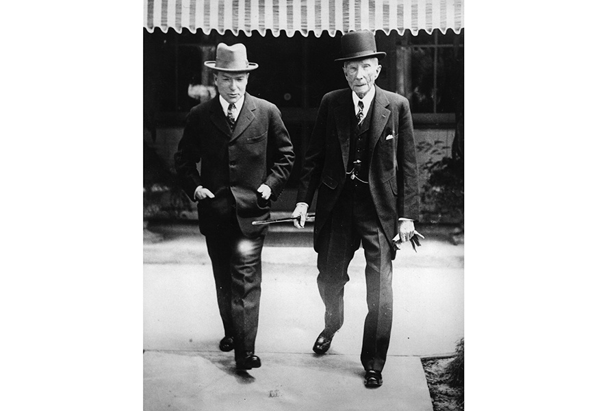 The fortunes of the Rockefeller family were kick-started by John D Rockefeller (right), who transformed the US oil industry by founding Standard Oil in 1870. Widely acknowledged as the richest man alive during his time, he gave much of his wealth away to charity. Photograph: Getty Images