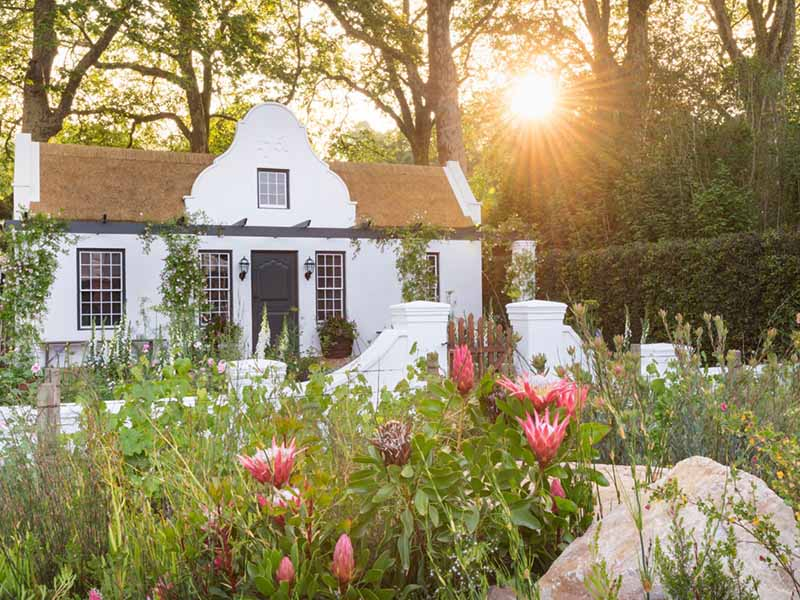 Jonathan Snow's garden featured a mix of vegetation native to South Africa, demonstrating how wild landscape and cultivated garden can coexist side by side. Photograph: Mimi Connolly