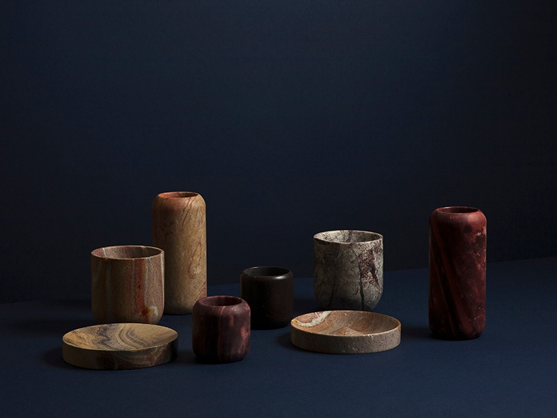 Bravo's Monolith series perfectly captures the patterns, textures, and colors of the <i>combarbalita</i> stone that make each piece unique.