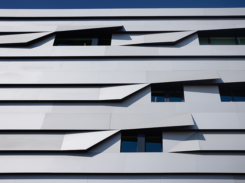 Kengo Kuma and Associates was inspired by the works of Paul Cézanne and the Japanese art of origami when designing the Aix en Provence Conservatory of Music, choosing aluminum for the façade. Photograph: Getty Images