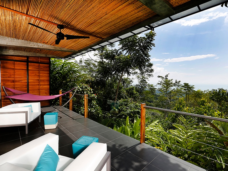 At Kurà Design Villas, expect to see Costa Rica's diverse wildlife—toucans, parrots, and hummingbirds—up close from the villas' extra-wide terraces tucked into the rainforest canopy.