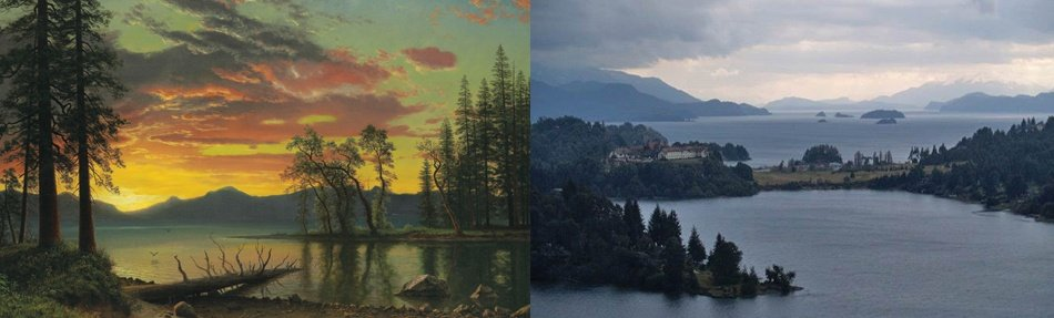 <i>Left: </i><b><a href=&quot;http://www.christies.com/lotfinder/paintings/albert-bierstadt-twilight-lake-tahoe-6074110-details.aspx&quot; target=&quot;_blank&quot;>TWILIGHT, LAKE TAHOE</b></a><br/>Albert Bierstadt<br/>oil on canvas<br/><i>Estimate: $3,000,000–$5,000,000</i><br/><br/><i>Right: </i><b><a href=&quot;http://www.christiesrealestate.com/eng/sales/detail/170-l-78116-1305141650004921/serene- waterfront-retrat-in-lago-moreno-bariloche-ri-8400&quot; target=&quot;_blank&quot;>SERENE WATERFRONT RETREAT</b></a><br/>Charming six-hectare estate on Lago Moreno<br/>Rio Negro, Argentina</br><i>Asking price: POA</i>